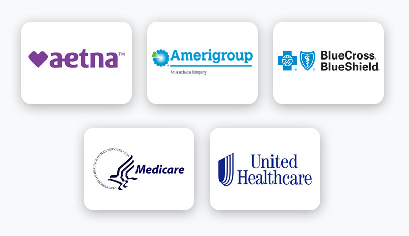 Collage of the Logos for the Insurance We Accept